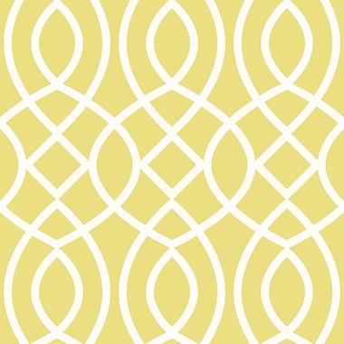Swag Paper Trellis Woven Geometric Panel 78'' H x 26'' W Wallpaper; Meringue
