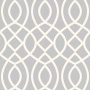 Swag Paper Trellis Woven Geometric Panel 54'' H x 26'' W Wallpaper; Silver