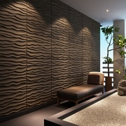Dunes Brick Paintable 31.4'' x 24.6'' Abstract 3D Embossed 6 Piece Panel Wallpaper (Set of 6)