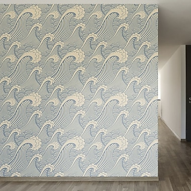Walls Need Love Waves of Chic Removable 8' x 20'' Abstract Wallpaper