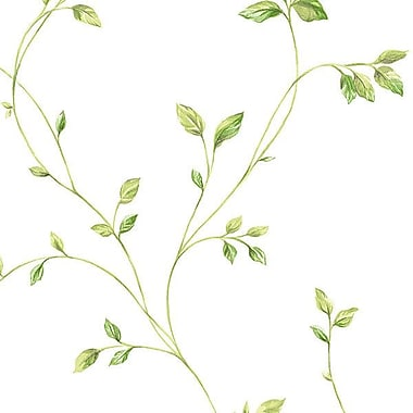 Norwall Wallcoverings Inc Fresh Kitchens V 32.7' x 20.5'' Watercolour Leaves Wallpaper