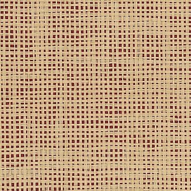 Norwall Wallcoverings Inc Decorator Grasscloth II 24' x 36'' Paper Weave Wallpaper; Red / Beige