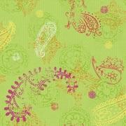 Room Mates Room Mates Deco 20.5' x 24'' Paisley Wallpaper; Lime