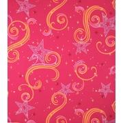 Room Mates Star Glitter 2.25' x 1.75'' Scroll Wallpaper Border; Fuchsia