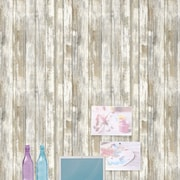 Room Mates Peel and Stick 16.5' x 20.5'' Wood Distressed Roll Wallpaper