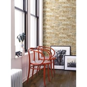Room Mates Peel and Stick 20.5' x 16.5'' Brick 3D Embossed Roll Wallpaper