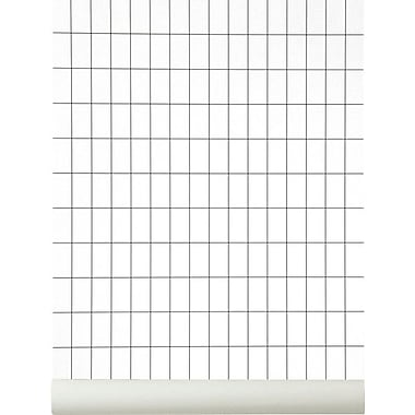 Scantrends WallSmart Grid 32.97' x 20.87'' Plaid Wallpaper; Black / White
