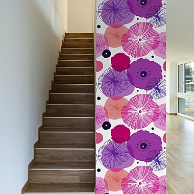 Walls Need Love Poppies Removable 10' x 20'' Floral Wallpaper