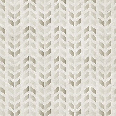 Walls Need Love Stamped Removable 5' x 20'' Chevron Wallpaper