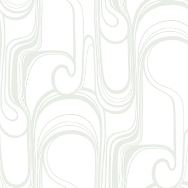 York Wallcoverings Risky Business Curves Ahead 27' x 27'' Abstract Foiled Wallpaper Roll