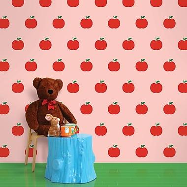 WallCandy Arts 2.17' x 26'' Apple Wallpaper; Red / Pink