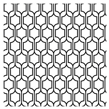 York Wallcoverings Bistro 750 33' x 20.5'' Trellis Wallpaper; Black / White