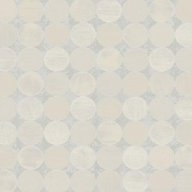 York Wallcoverings Candice Olson II 27' x 27'' Polka Dot Distressed Wallpaper; Gray Spa / Creamy Tan