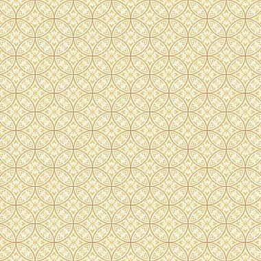 York Wallcoverings Silhouettes 27' x 27'' Lacey Interlocking Circles Wallpaper Roll; Yellow / Orange