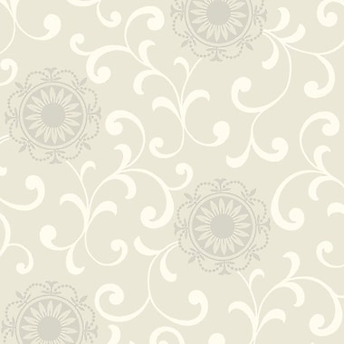 York Wallcoverings Silhouettes Daisy 33' x 20.5'' Scroll Embossed Wallpaper