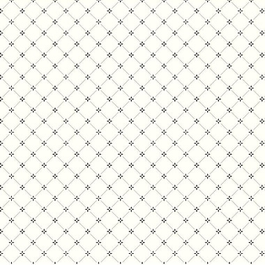 York Wallcoverings Black and White Scale Diamond 27' x 27'' Geometric 3D Embossed Roll Wallpaper