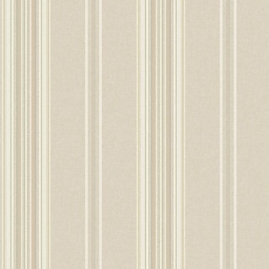 York Wallcoverings Saint Augustine Baroque 33' x 20.5'' Stripes 3D Embossed Wallpaper; Buff