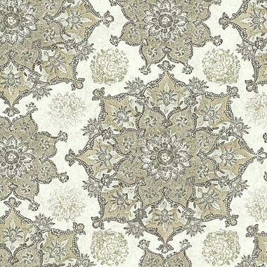 York Wallcoverings Global Chic Incense Wheel 27' x 27'' Floral and Botanical 3D Embossed Wallpaper