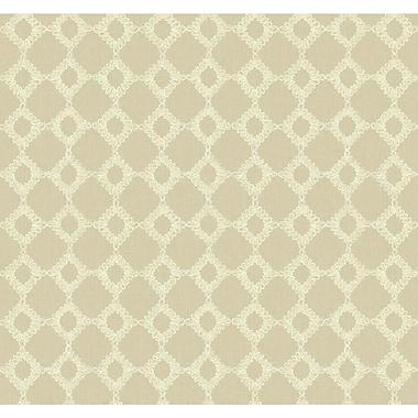 York Wallcoverings Williamsburg II 27' x 27'' Keswick Ribbon Texture Wallpaper; Beige / Cream