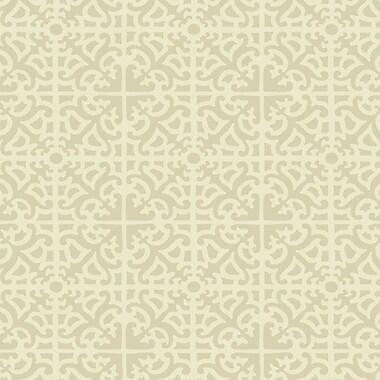 York Wallcoverings Williamsburg II 27' x 27'' Parterre Trellis Texture Wallpaper; Beige / Cream