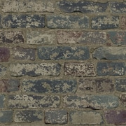 York Wallcoverings Urban Chic Up the Wall 33' x 20.5'' Brick/Wood/Stone Roll Wallpaper