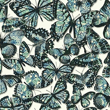 York Wallcoverings Urban Chic Jeweled Monarch 33' x 20.5'' Wildlife Roll Wallpaper