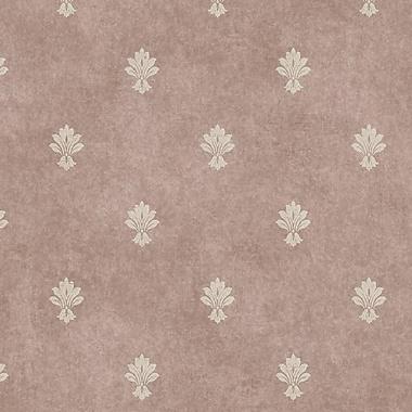 York Wallcoverings Impressions 27' x 27'' Fleur De Lis Wallpaper; Orchid / Gold