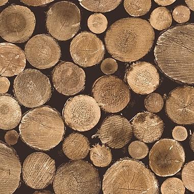 Walls Republic Contemporary Nature Tree Stump 32.97' x 20.8'' Firewood Wallpaper