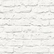 Walls Republic Faux Industrial Chic 32.97' x 20.8'' Brick Wallpaper Roll; White