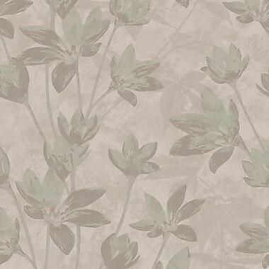 Walls Republic Modern Floral Metallic Glittered Ravine 32.97' x 20.8'' Botanical Wallpaper; Mauve