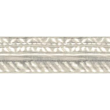 York Wallcoverings Border Portfolio II Shibori 15' x 6'' Stripes Border Wallpaper; Gray/White