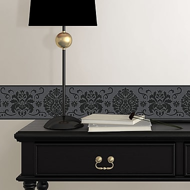 WallPops! Campbell 16' x 4.9'' Damask Peel and Stick Border Wallpaper (Set of 2)
