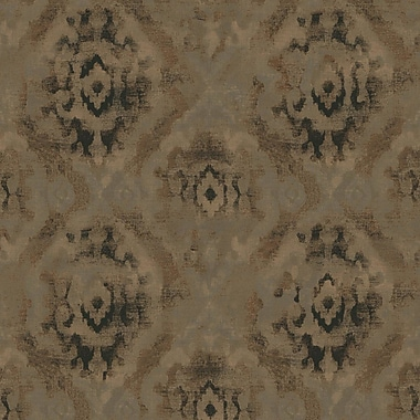 York Wallcoverings Urban Retreat 27' x 27'' Taho Wallpaper; Taupe/Back/Metallic Copper