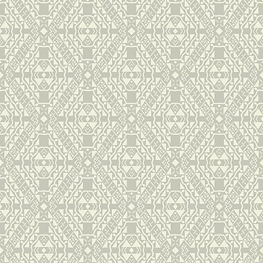 York Wallcoverings Pattern Play 33' x 20.5'' Totem Wallpaper; Gray / Cream