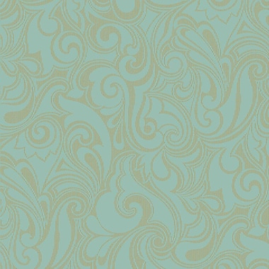 York Wallcoverings Pattern Play 27' x 27'' Jubilee Wallpaper; Turquoise / Gold