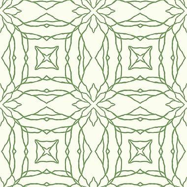 York Wallcoverings Pattern Play 33' x 20.5'' Reflections Wallpaper; Cream / Bright Green