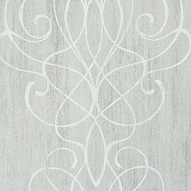 Walls Republic Swirling Ornamental Romantic 32.97' x 20.8'' Scroll Wallpaper; Gainsboro