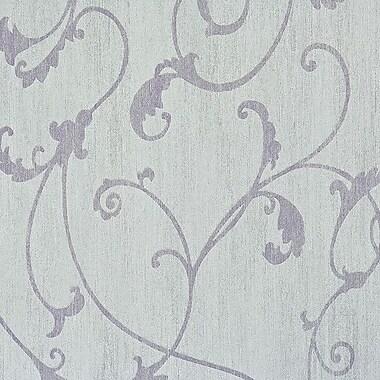 Walls Republic Ornamental 32.97' x 20.8'' Scroll Wallpaper Roll; Lilac
