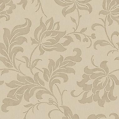 Walls Republic Vintage Floral Adeline 32.97' x 20.8'' Damask Wallpaper; Beige