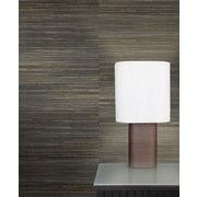 Walls Republic Raw Grasscloth 18' x 36'' Stripes Wallpaper; Charcoal