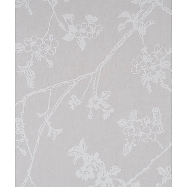 Walls Republic Flora Blossom 32.97' x 20.8'' Floral and Botanical Wallpaper; Cool Grey