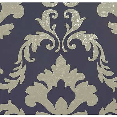 Walls Republic Attractive Traditional Metallic 32.97' x 20.8'' Damask Wallpaper; Byzantium