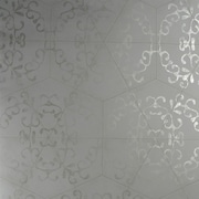 Walls Republic Luxury Elegant Octagonal Metallic 27.5'' x 27.5'' Geometric Wallpaper; Gray