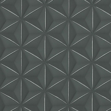 Walls Republic Delusional 32.97'' x 20.8'' Geometric Wallpaper; Black