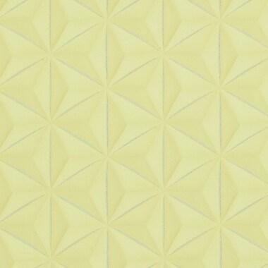 Walls Republic Delusional 32.97'' x 20.8'' Geometric Wallpaper; Yellow