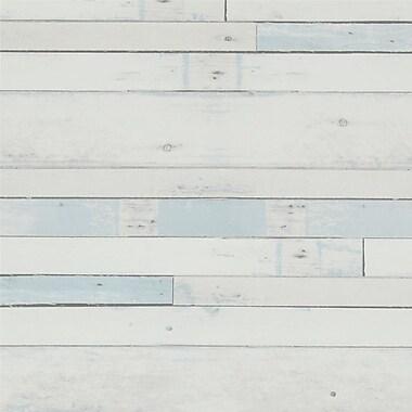 Walls Republic 32.97' x 20.8'' Faux Tinted Wood Wallpaper; Pastel Blue