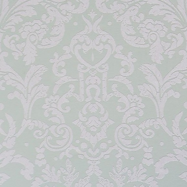 Walls Republic Ornamental 32.97'' x 20.8'' Floral and botanical Wallpaper; Mint Green