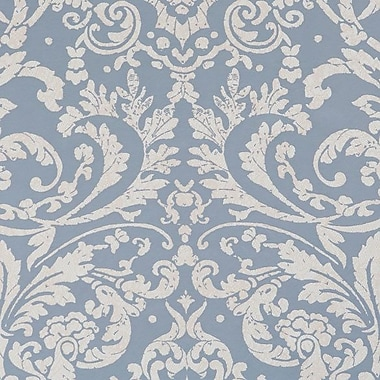 Walls Republic Ornamental 32.97'' x 20.8'' Floral and botanical Wallpaper; Powder Blue