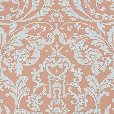 Walls Republic Ornamental 32.97'' x 20.8'' Floral and botanical Wallpaper; Orange
