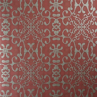 Walls Republic Classic Tiled Romantic Swirls 27.5'' x 27.5'' Floral and botanical Wallpaper; Red